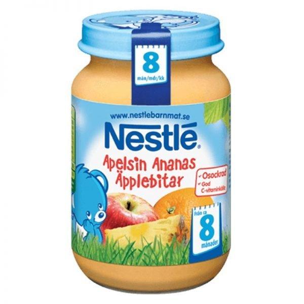 Barnmat Apelsin, Ananas & Äpplebitar 195g - 19% rabatt