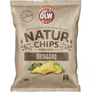 """Chips """"Örtagård"""" 180g - 54% rabatt"""