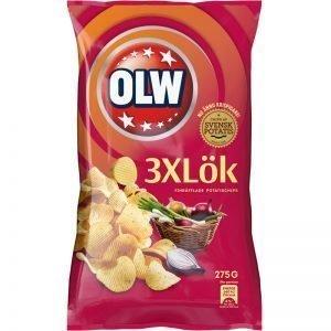 """Chips """"3xLök"""" 275g - 32% rabatt"""