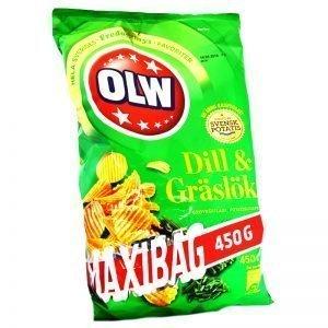 """Chips Dill & Gräslök """"Maxibag"""" - 34% rabatt"""