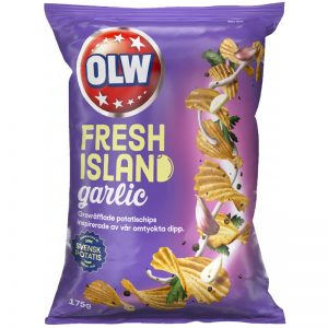 "Chips ""Fresh Island Garlic"" 175g - 54% rabatt"