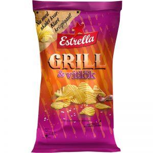 Chips Grill & Vitlök 275g - 35% rabatt