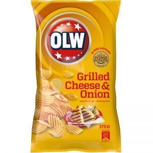 "Chips ""Grilled Cheese & Onion"" 275g - 32% rabatt"