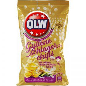 """Chips """"Gyllene Schlager"""" 275g - 69% rabatt"""