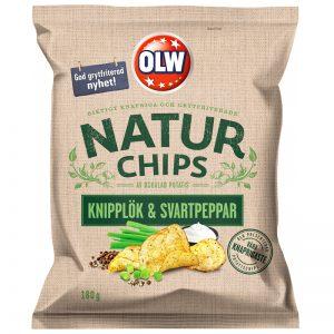 Chips Knipplök & Svartpeppar 180g - 32% rabatt