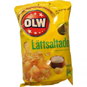 Chips Lättsaltade Portion 40g - 28% rabatt