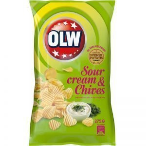 "Chips ""Sourcream & Chives"" 275g - 32% rabatt"
