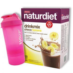 Drinkmix Choklad & Banan 825g + Shaker - 60% rabatt
