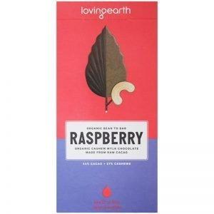 "Eko Choklad ""Raspberry & Cashews"" 80g - 59% rabatt"