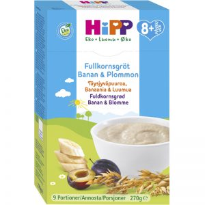 Eko Fullkornsgröt Banan & Plommon 270g - 34% rabatt
