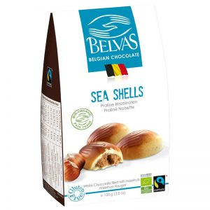 """Eko Hasselnötspraliner """"Sea Shells"""" 100g - 74% rabatt"""