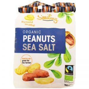 """Eko Jordnötter """"Sea Salt"""" 100g - 21% rabatt"""