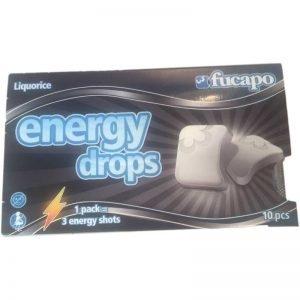 Energy drops Liquorice - 70% rabatt