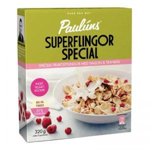 Frukostflingor Hallon & Tranbär 320g - 50% rabatt