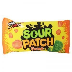 "Godis ""Sour Patch Peach"" 56g - 76% rabatt"