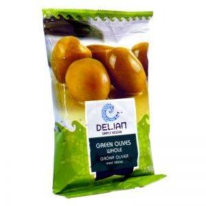 Gröna oliver med kärna - 80% rabatt