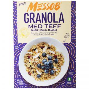 Granola Teff Blåbär, Kokos & Tranbär 325g - 62% rabatt