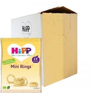 """Hel Låda Barnmat """"Mini Rings"""" 7 x 25g - 57% rabatt"""