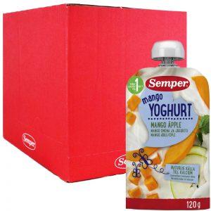 Hel Låda Barnmat Yoghurt Mango 12 x 120g - 97% rabatt