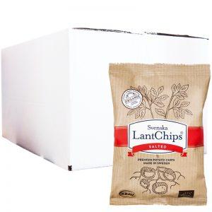 Hel Låda Chips Saltade 20 x 40g - 40% rabatt