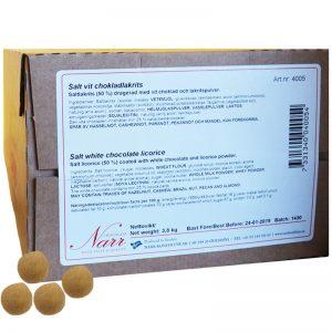 Hel Låda Chokladlakrits Salt & Vit 3,8kg - 67% rabatt