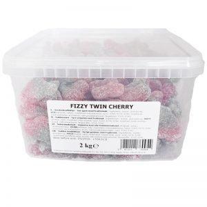 "Hel Låda Godis ""Fizzy Twin Cherry"" 2kg - 61% rabatt"