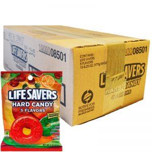 "Hel Låda Godis ""Lifesavers"" 12 x 177g - 41% rabatt"