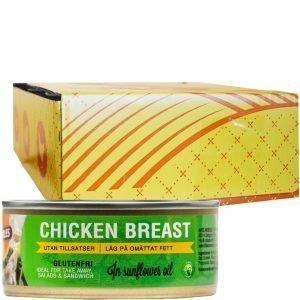 Hel Låda Kycklingbröst Olja 12 x 155g - 23% rabatt