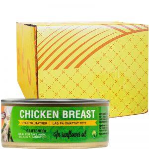 Hel Låda Kycklingbröst Olja 24 x 155g - 23% rabatt