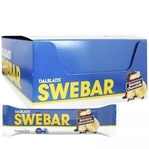 """Hel Låda Proteinbars """"Banana Chocolate"""" 20 x 55g - 47% rabatt"""