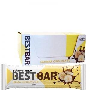 """Hel Låda Proteinbars """"Banana Chocolate Chip"""" 12 x 60g - 39% rabatt"""