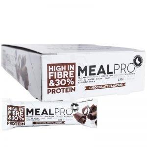 "Hel Låda Proteinbars ""Chocolate"" 24 x 32g - 48% rabatt"