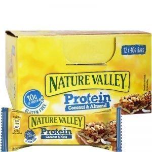 "Hel Låda Proteinbars ""Coconut & Almond"" 12 x 40g - 46% rabatt"