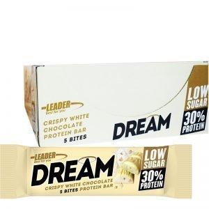 """Hel Låda Proteinbars """"Crispy White Chocolate"""" 24 x 40g - 56% rabatt"""