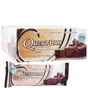 "Hel Låda Proteinbars ""Double Chocolate Chunk"" 12 x 60g - 32% rabatt"