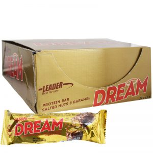 "Hel Låda Proteinbars ""Dream"" 24 x 45g - 55% rabatt"
