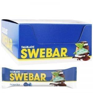 "Hel Låda Proteinbars ""Mint Chocolate"" 20 x 55g - 36% rabatt"