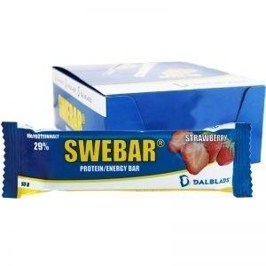 "Hel Låda Proteinbars ""Strawberry"" 20 x 55g - 33% rabatt"
