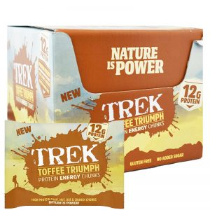 "Hel Låda Proteinbitar ""Toffee Triumph"" 14 x 60g - 83% rabatt"