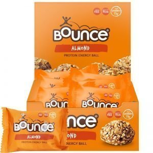 "Hel Låda Proteinbollar ""Almond Energy"" 12 x 45g - 50% rabatt"