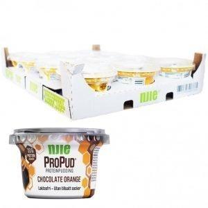 Hel Låda Proteinpudding Choklad & Apelsin 12 x 200g - 28% rabatt