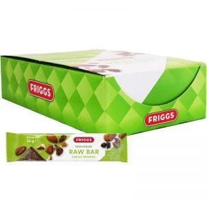 Hel Låda Rawbars Kakao & Mandel 24 x 35g - 65% rabatt