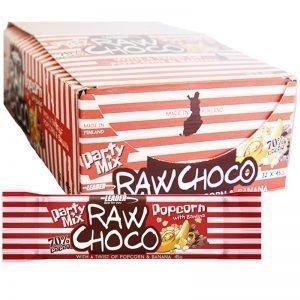 """Hel Låda Snack Bar """"Raw Choco"""" 32 x 45g - 77% rabatt"""