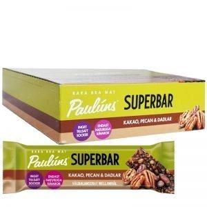 "Hel Låda ""Superbars"" Pecan & Dadlar 15 x 40g - 81% rabatt"