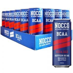 Hel Platta BCAA-dryck Röda Bär 24 x 330ml - 30% rabatt