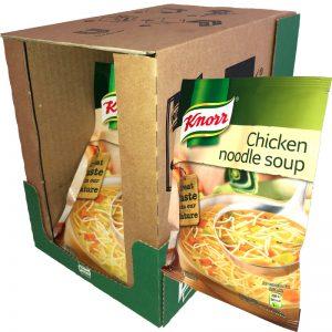"Hel låda Soppa ""Chicken Noodle Soup"" 10 x 61g - 20% rabatt"