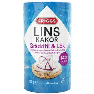 Linskakor Gräddfil & Lök 125g - 23% rabatt