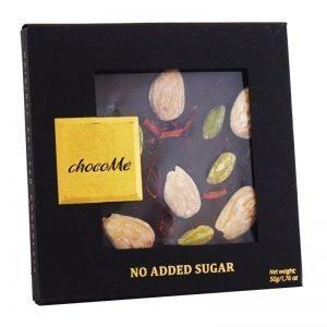 Mörk Choklad Pistagenötter, Mandlar & Chili 50g - 32% rabatt