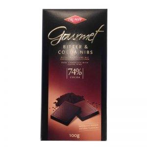 Mörk choklad 74% med kakaosplitter - 33% rabatt