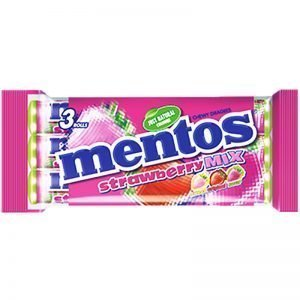 "Mentos ""Strawberry Mix"" 3 x 37,5g - 42% rabatt"
